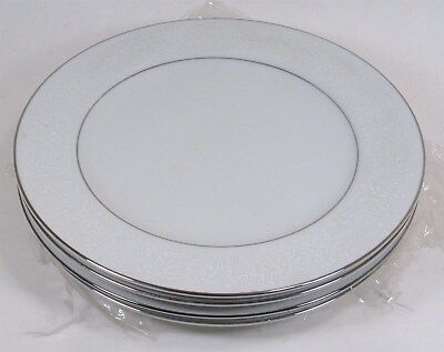 """4 Never Used LOVELACE dinner plates, 10-3/8"""" Crown Victoria, Made in Japan"""