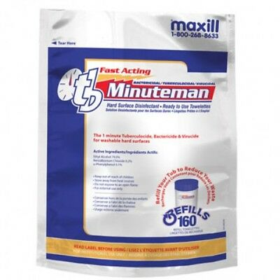 tb Minuteman Hard Surface Disinfectant Wipes Refill Unscented