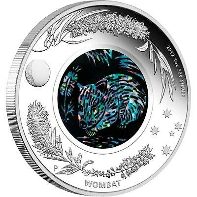Australia 2012 $1 Opal Series The Wombat Proof 1oz .999 Silver Coin