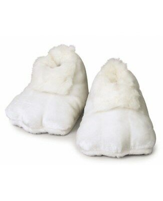 White Plush Bunny Adult Shoes (Pair) Easter Rabbit Mascot Feet Costume Slippers
