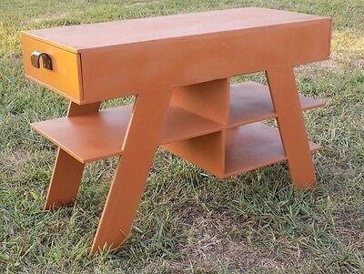 Wood Atomic Coffee Table Mid Century Modern Vintage MCM Vtg Wooden Brown