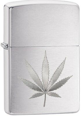Zippo Choice Marijuana Weed Leaf WindProof Lighter Brushed Chrome 29587