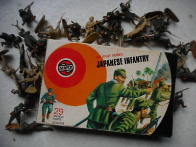 1973 VINTAGE AIRFIX SOLDIERS 132 SCALE WW2 japanese infantry TARGET BOX BOXED