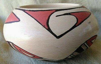 Wonderful Vintage Hopi Pottery Bowl By LouAnn Silas