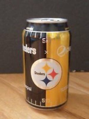 🏈Bottom Opened Pittsburgh Steelers Limited Edition 2017 Pepsi Can