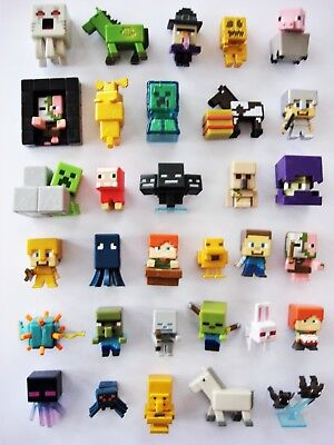 Minecraft Mini Figures Unlimited Chest Series 3 - CHOOSE - inc rare Gold figures
