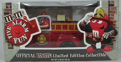 $$ REDUCED Official M&M's Limited Edition Collectible Fire Truck Candy Dispenser