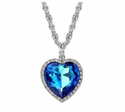Reduced swarovski oceanic pendant with 16 chain 5890 picclick designer made with ocean blue swarovski crystal heart necklace pendant jewelry aloadofball Images