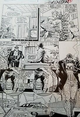 Punisher Christmas Special Page 32 Signed And Drawn By John Hebert