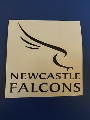 Newcastle falcons vinyl car window sticker also in white