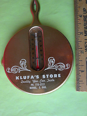 Advertising Thermometer Klufas's Store, Burke, SD  good condition