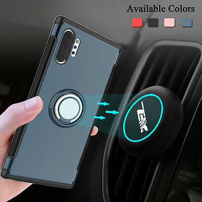 For Samsung Galaxy S8/S9 Plus/Note 9/8 Ring Holder Phone Case+Car Air Vent Mount