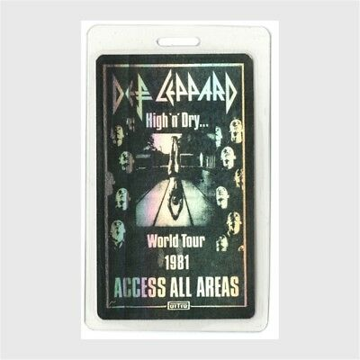 Def Leppard authentic 1981 concert Laminated Backstage Pass High N Dry Tour AA