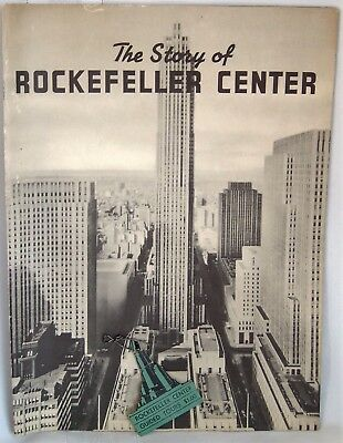 Vtg New York Rockefeller Center 1939-40 Souvenir Book Tour Ticket B & W Photos