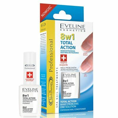 Nail Conditioner 8 in 1 EVELINE Nail Strenghtener Total Action BEST PRICE