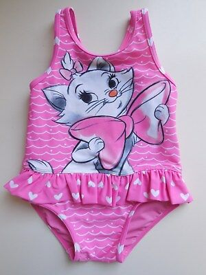'disney' Baby Toddler Girl One Pce Bathers Swimwear Swimsuit Size 1 Fits 12-18M