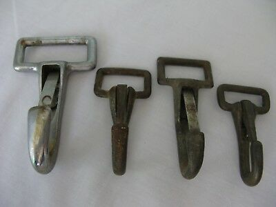 """4 Vintage Snap Spring Latch Hooks~2 1/2 - 3 1/2"""" In Size~Metal~Nautical?"""