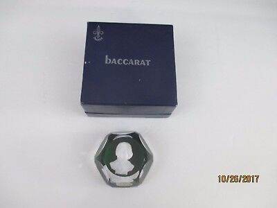 Baccarat Andrew Jackson Sulfide Paperweight In Presentation Box