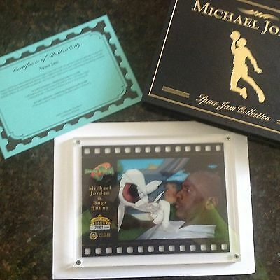 "Upper Deck:Space Jam CelCard ""Michael Jordan & Bugs Bunny"" (1996 Limited Edition"