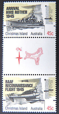 1995 Christmas Island Stamps - 50th Anniversary End of WWII - Gutter Set 2 MNH
