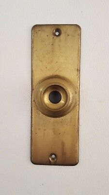 Vintage Brass Push Button Door Bell Cover