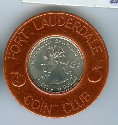 Encased By Fort Lauderdale Coin Club 2004 Florida State Quarter
