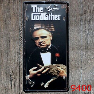 Metal Tin Sign the godfather Decor Bar Pub Home Vintage Retro Poster Cafe ART