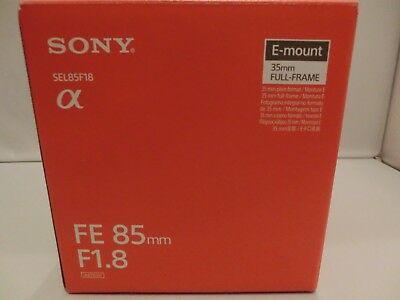 Brand New Sony FE 85mm F1.8 SEL85F18 Lens   for Sony E mount Cameras