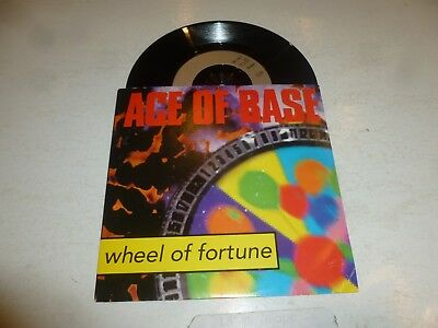 "ACE OF BASE - Wheel Of Fortune - 1993 German solid centre 2-track 7"" single"