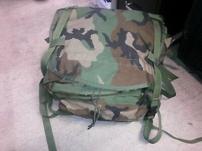 US ARMY molle II woodland main pack rucksack pack no frame no straps no belt