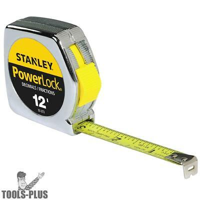 Stanley 33-272 12 ft Decimal/Inch Powerlock Tape Measure New