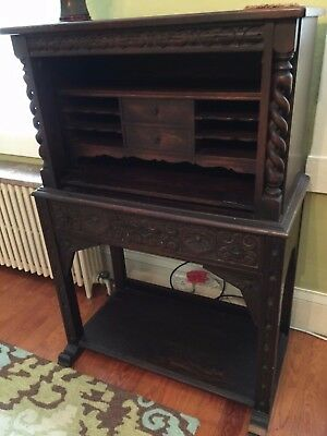 Antique Carved Wooden  Desk