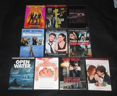 Lot of 10 DVDs Comedy Drama Action Brad Stine Mission Impossible Italian Job etc