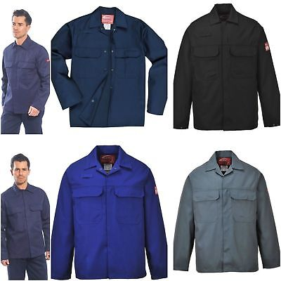 Portwest Flame Fire Retardant Resistant Jacket Welding Welders Work Coat