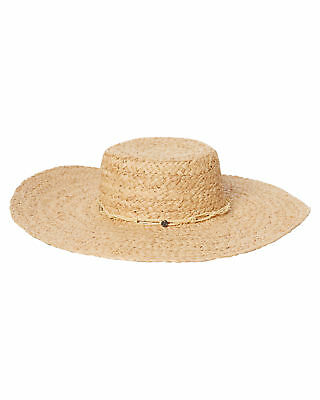 New Rusty Women's Pinnacle Straw Hat Natural