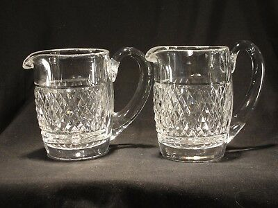 Vintage Pair of Waterford Crystal Creamers - Made in Ireland Crystal-Exquisite!