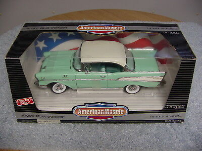 Ertl American Muscle Ce 1/18 1957 Chevy Bel Air Sport Coupe Car