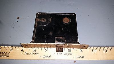 Vintage-Antique Door Mortise Lock Latch Hardware With Brass Faceplate