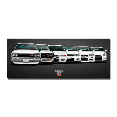 Nissan Vintage Skyline Super Car Racing Car Concept Silk Poster 13x34 24x62 inch