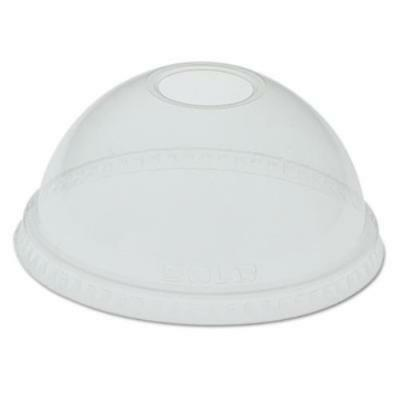 Dart SCCDLR24 Dome-top Cold Cup Lids F/24-26oz Cups, Clear, 100/sleeve,