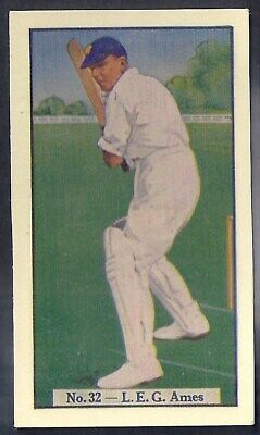 Allen (Australia)-Cricket (Coloured) 1938-#32- Kent - Ames