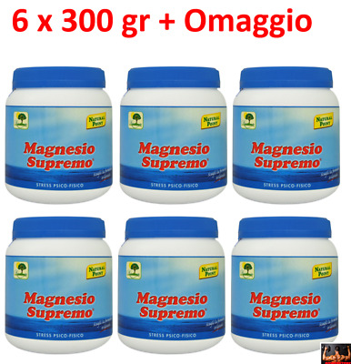 MAGNESIO SUPREMO NATURAL POINT 6 x 300 GR -  STRESS MENTALE E FISICO