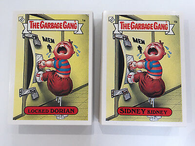 1990 UK Garbage Pail Kids Garbage Gang 91 COMPLETE Variation Set MINT CONDITION
