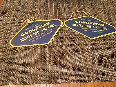 Antique GOODYEAR  TIRE Advertising Gas/OIL Bicycle price tag.