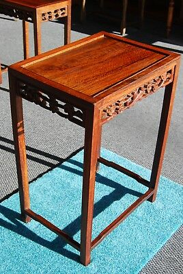 Antique Chinese Carved Birds Cherry Blossom table ~ Ancient Chines Table