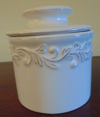 The Original Butter Bell Crock by L. Tremain Antique Collection - White Linen- r