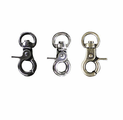 Trigger Snap Hooks - 360 swivel 9mm Dee 7.5mm base 3 colours Qty 4