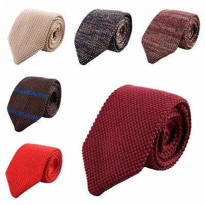 1x Men's Fashion Colourful Tie Knit Knitted Tie Necktie Narrow Slim Skinny Woven