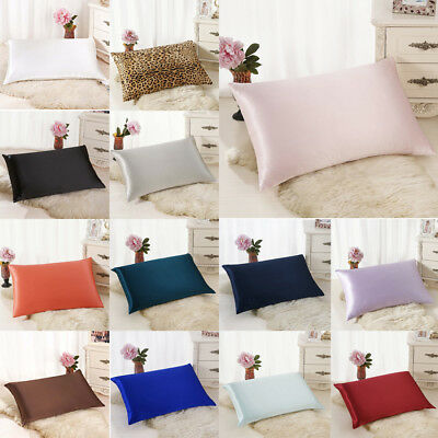 Rectangle Soft Cushion Cover Silk Throw Pillow Case Home Bed Sofa Decorations