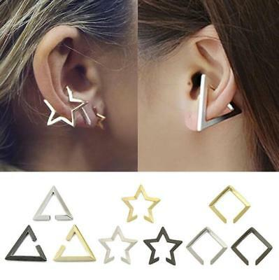 Fashion Punk Star No Piercing Ear Cuff Clip On Stud Fake Earrings Jewelry